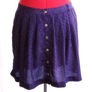 Target Xhilaration Key Print Buttoned Skirt - XXL